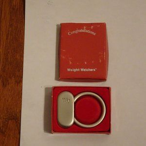 Weight Watchers Silver Key Ring Award Charm Holder